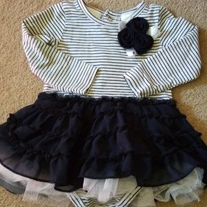 Beautiful fun frilly blue baby girl dress 6 months